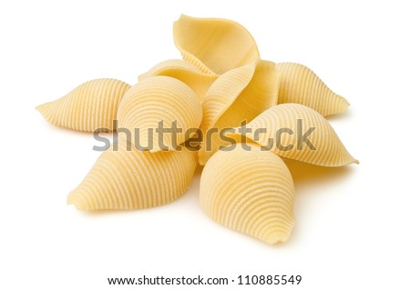 pasta closeup on white background
