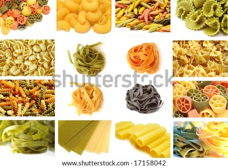 Pasta collection - stock photo
