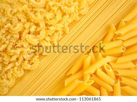 Pasta collection background