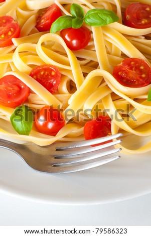 Pasta dish still life shot - stock photo