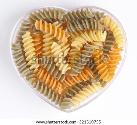 Pasta heart - stock photo