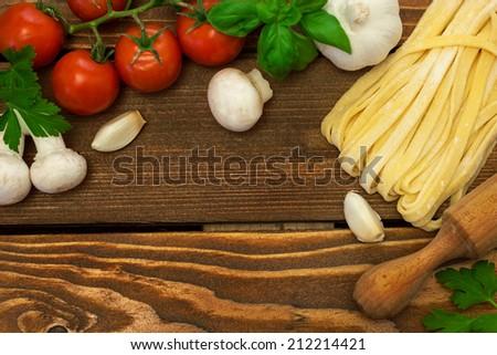 Pasta Ingredients - stock photo