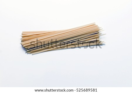 Pasta isolated on white