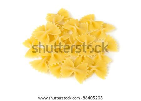 pasta isolated on white. - stock photo
