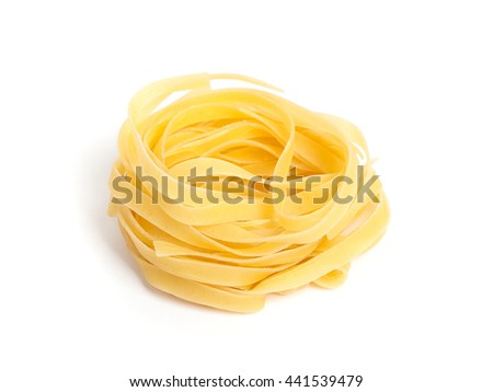 Pasta nest isolated on white background - stock photo