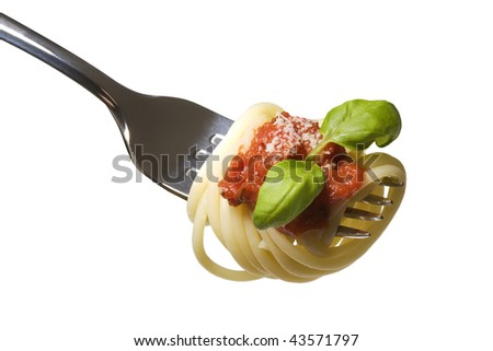 Pasta on a spoon
