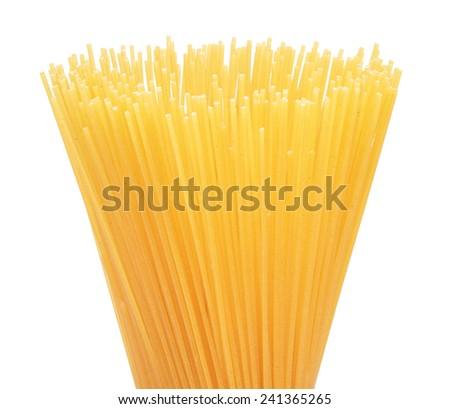 pasta on a white background - stock photo