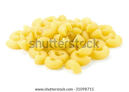 Pasta on the white background