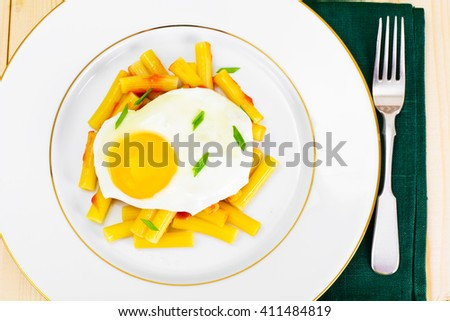 Pasta Penne with Egg Studio Photo