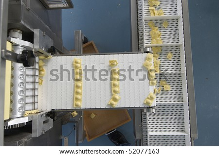 pasta production line - stock photo