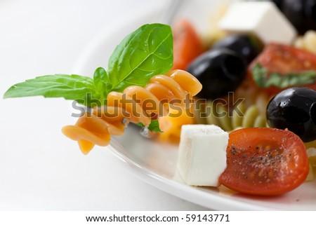 Pasta salad - stock photo