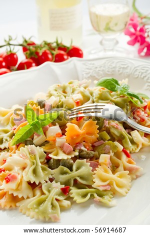 pasta salad  on dish
