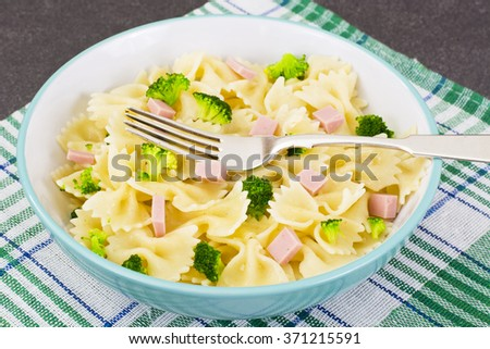 Pasta, Sausage and Broccoli Diet Food Studio Photo
