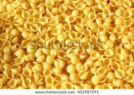 Pasta shells background - stock photo