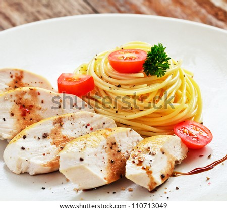 Pasta spaghetti - stock photo
