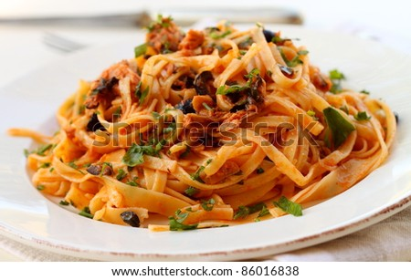 Pasta with tuna fish
