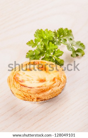 Pasteis de nata,traditional pastry from Lisbon,now worldwide popular food - stock photo
