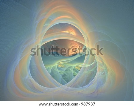Pastel Apophysis creation, very suitable as a background - stock photo