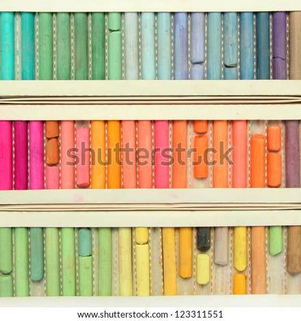 pastel art color palette background - stock photo