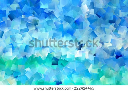 Pastel Blue and Green Abstract - stock photo
