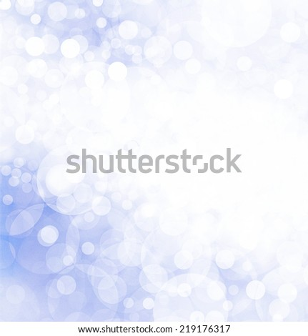 Pastel Blue Background Christmas Lights Twinkling Stock ...