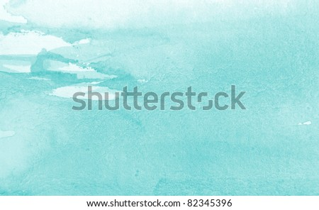 Pastel Blue Watercolor Background 4 - stock photo
