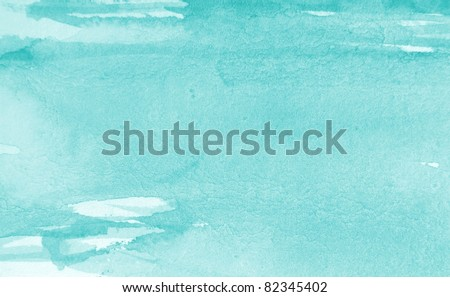 Pastel Blue Watercolor Background 1 - stock photo