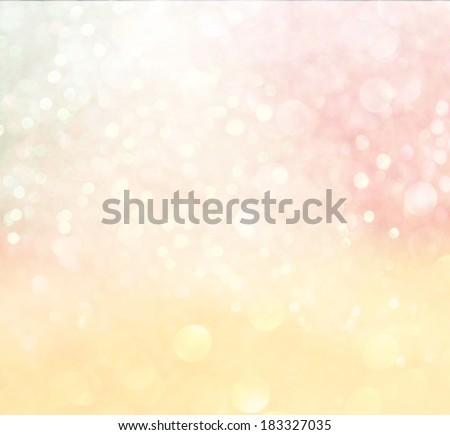 pastel bokeh lights. defocused lights background - stock photo