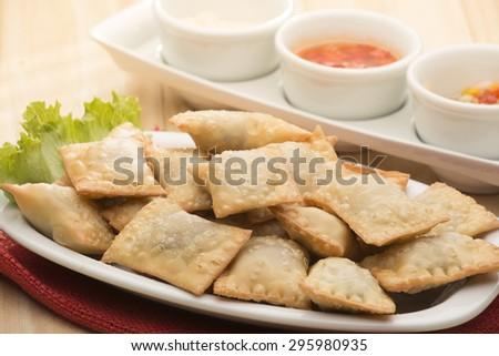 Pastel - Brazilian pastry - stock photo