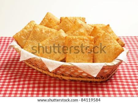 Pastel - Brazilian pasty - stock photo