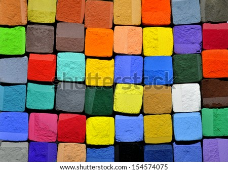 pastel chalk background - stock photo