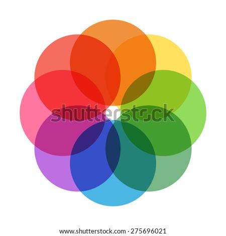 Pastel Color wheel - stock photo