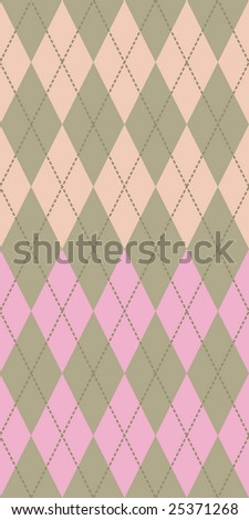 Pastel colored argyle seamless pattern - stock photo