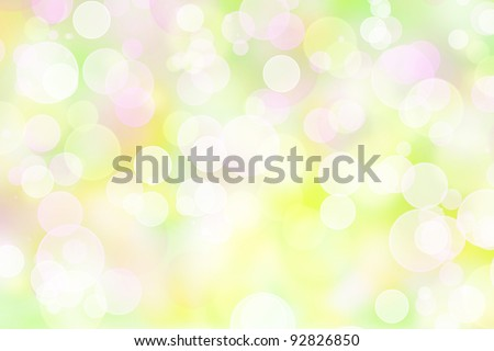 pastel colored bokeh lights effect background - stock photo