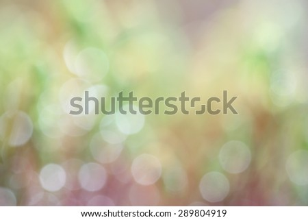 Pastel colored green and blue garden background with abstract, soft and fresh blurred bokeh  - stock photo