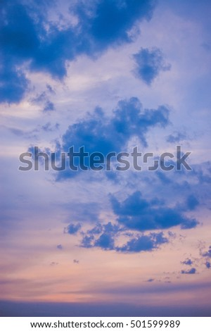 pastel colors of clouds on the sky