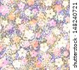 pastel floral texture seamless background tile - stock vector