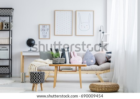 Lovely Pastel Girly Room Simple Sofa Decorative Stock Photo 690009454    Shutterstock
