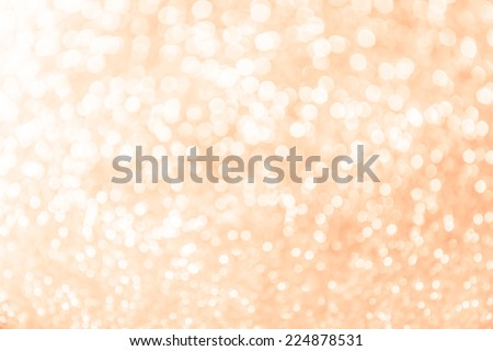 Pastel orange abstract blur bokeh lights. defocused background. - stock photo