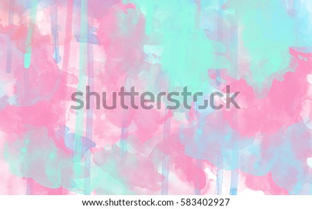 Pastel Pink And Blue Abstract Watercolor Background Wallpaper