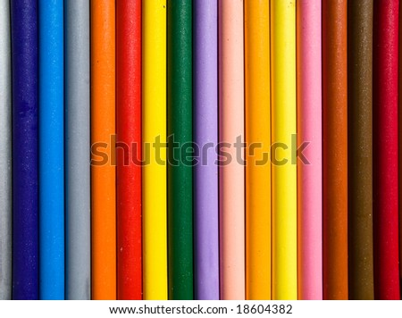 Pastel rainbow - stock photo