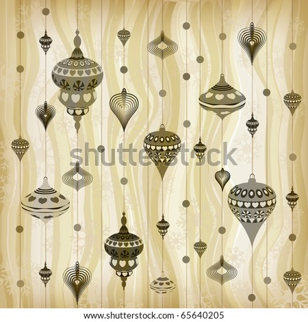 Pastel Toned Christmas Pattern - stock photo