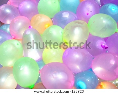 Pastel Water Balloons - stock photo