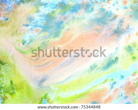 Pastel Watercolors 7 - stock photo