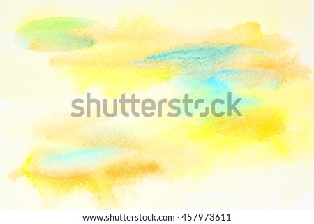 Pastel yellow abstract watercolor background with paper txture - stock photo