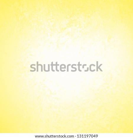 pastel yellow background white abstract design, vintage grunge background texture, distressed rough border frame, abstract bright gold background color splash white center, white paper, brochure ad - stock photo