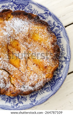 Pastiera napoletana (Easter cake), Naples, Campania, Italy - stock photo