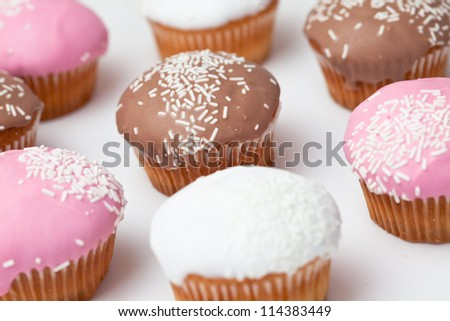 Pastries against a white background