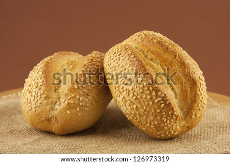 pastries on a sackcloth