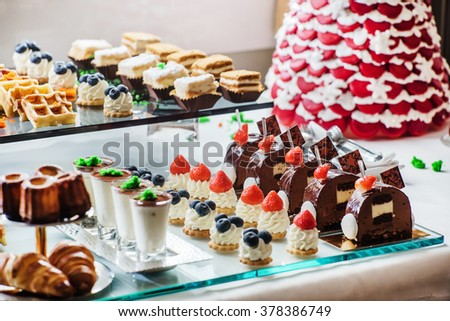 pastries on the brunch table - stock photo